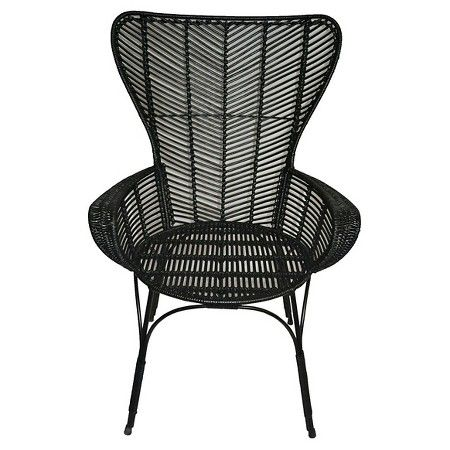 Rattan Wingback Chairs Mickey Mouse For Toddlers Uk Black Chair Threshold Target Furniture