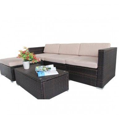 Buy Rattan Garden Wicker Patio Furniture Cushion Cover Replacement 8cm  |Homcom