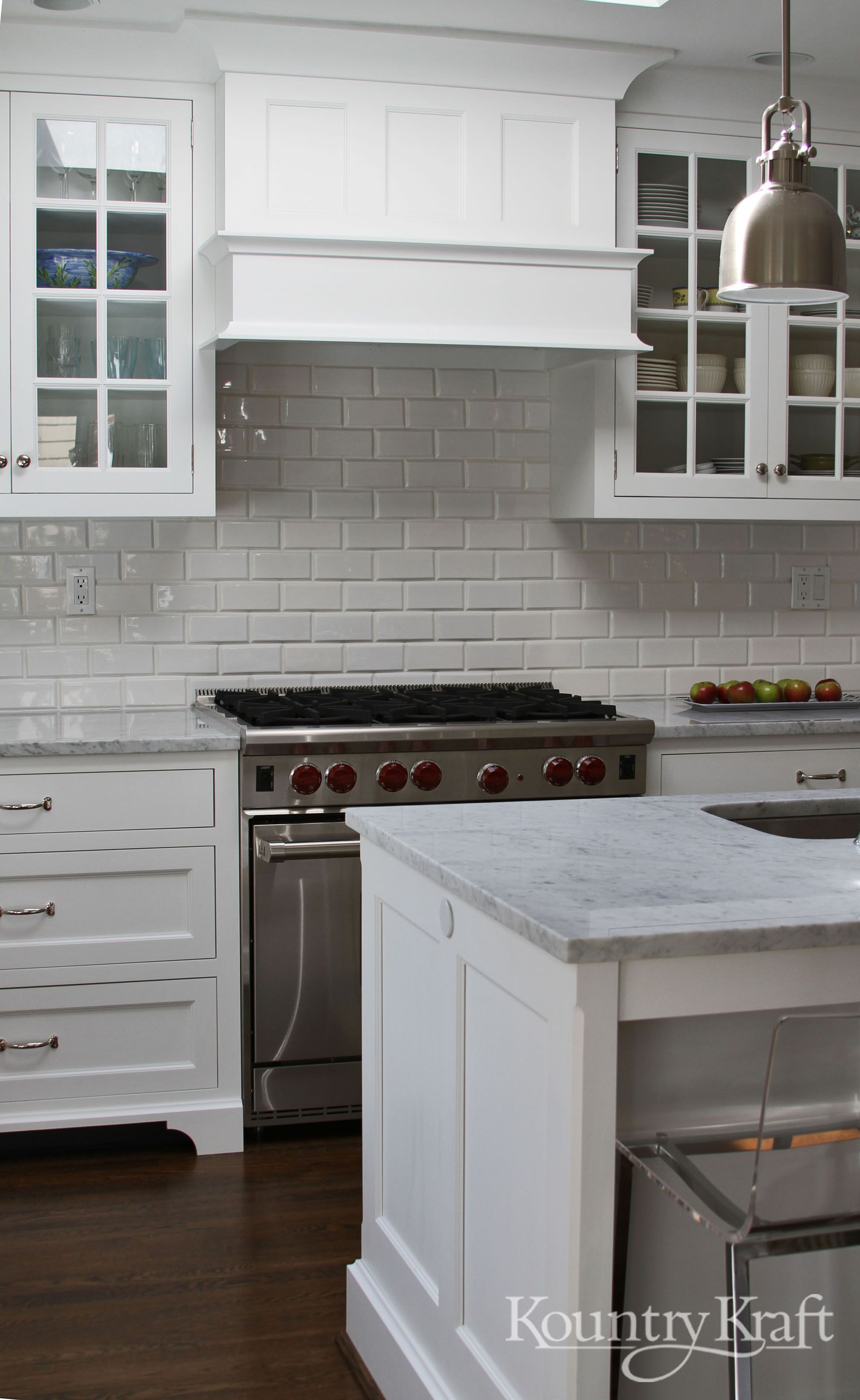 Custom Kitchen Cabinets Designed By Bradford Design LLC In Bethesda MD.  This Classic White Kitchens Includes Door Style TW10 With An OGEE Framing  Bead And ...