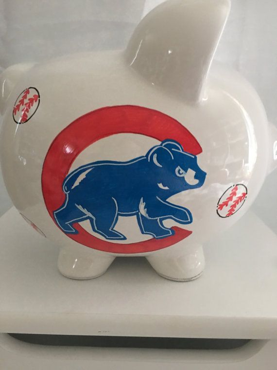Personalized largepiggy bank chicago cubs newborns birthday personalized largepiggy bank chicago cubs newborns birthdaygirlsflower girlbaby shower gift centerpiece negle Choice Image