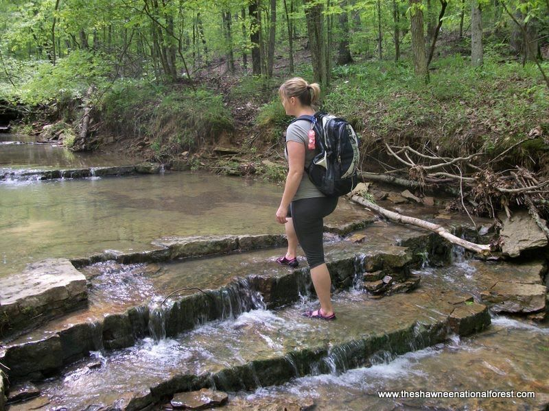 Shawnee National Forest Il Garden Of The Gods Stairstep Waterfall