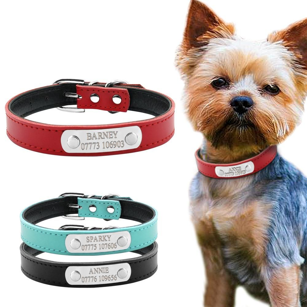 Leather Personalized Dog Collars Custom Dogs Leather Dog