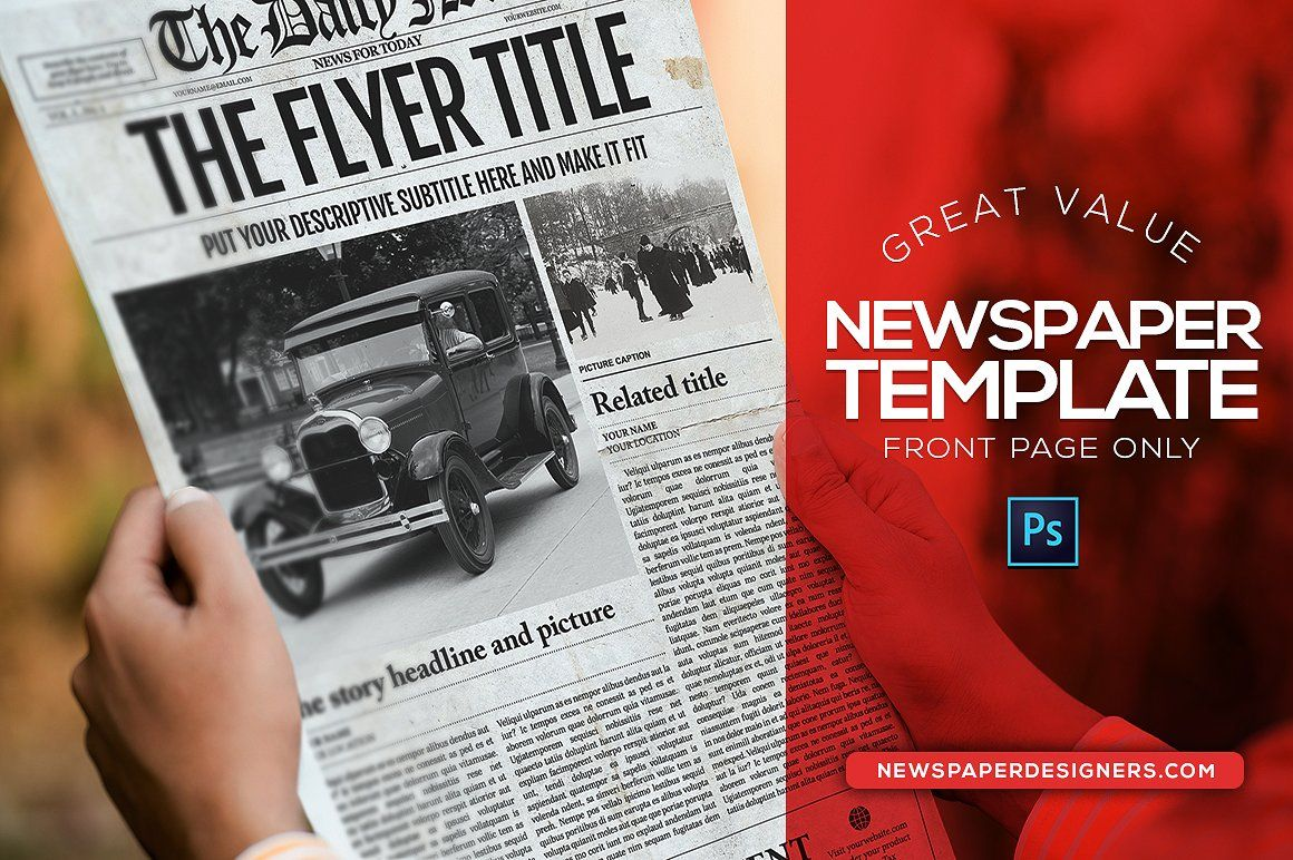 The Daily News Photoshop Template By Newspaper Templates On