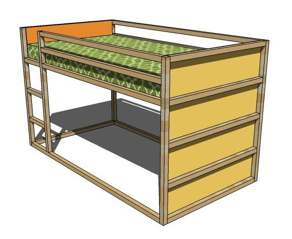 DIY Plans For An IKEA KURA Knock Off Bed. Reversible (mattress Can Be Above