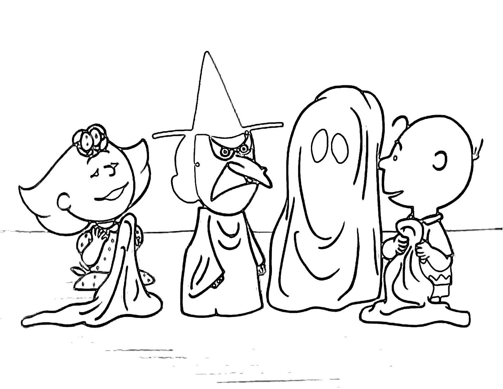 Halloween coloring pages charlie brown halloween coloring pages
