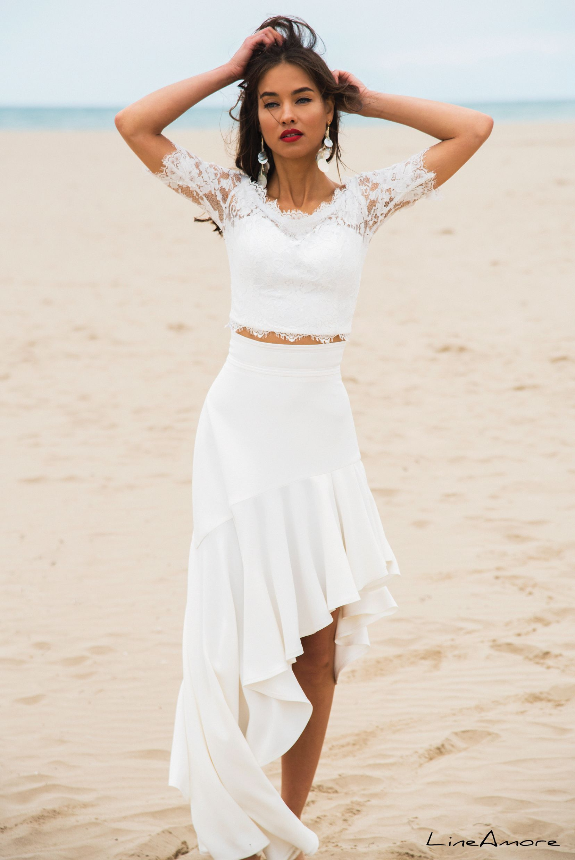 LineAmore Venice Beach Set 432 2 piece wedding dress