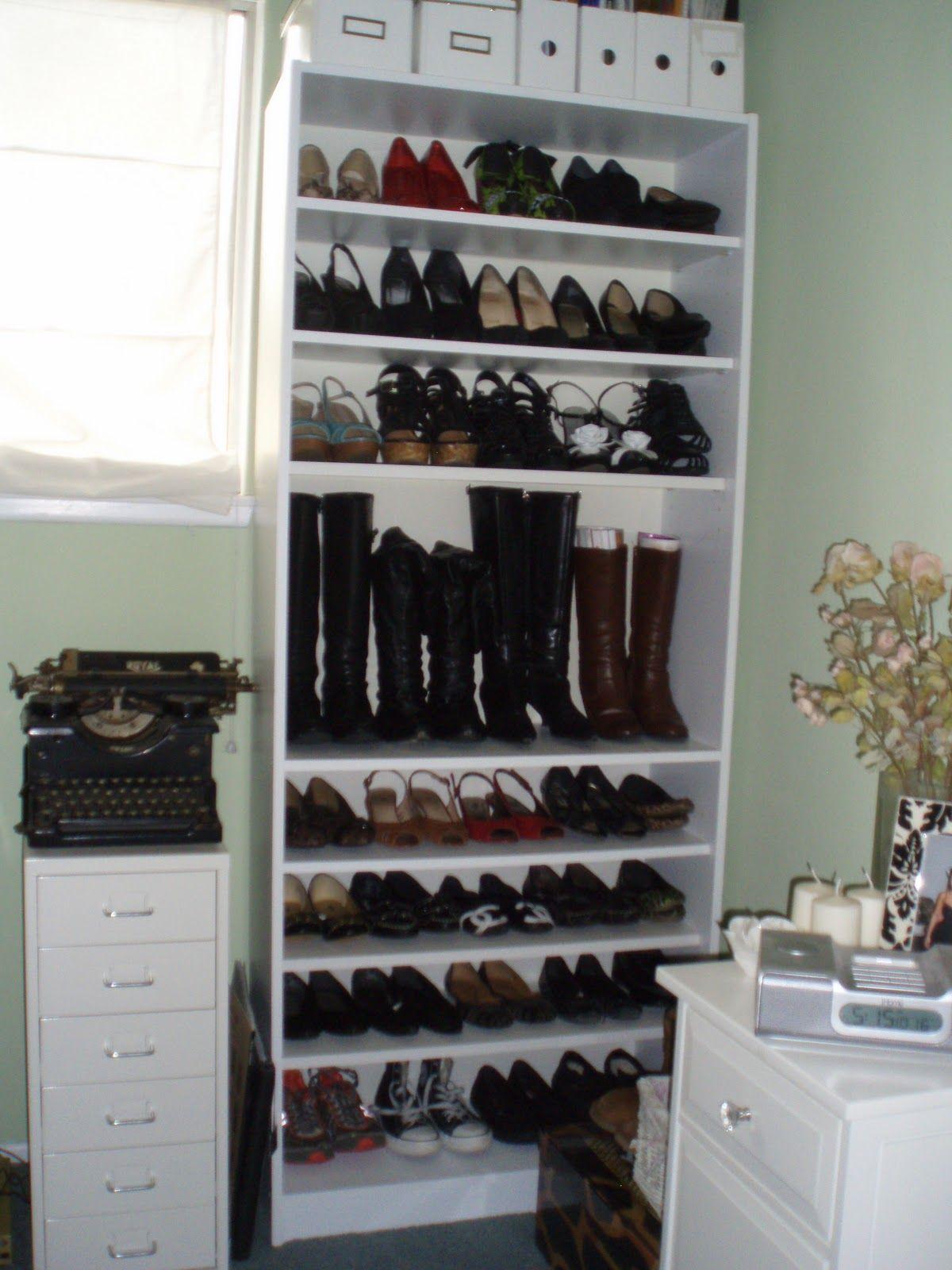 Diy bookcase shoe shelves adjustable bookcases shoe