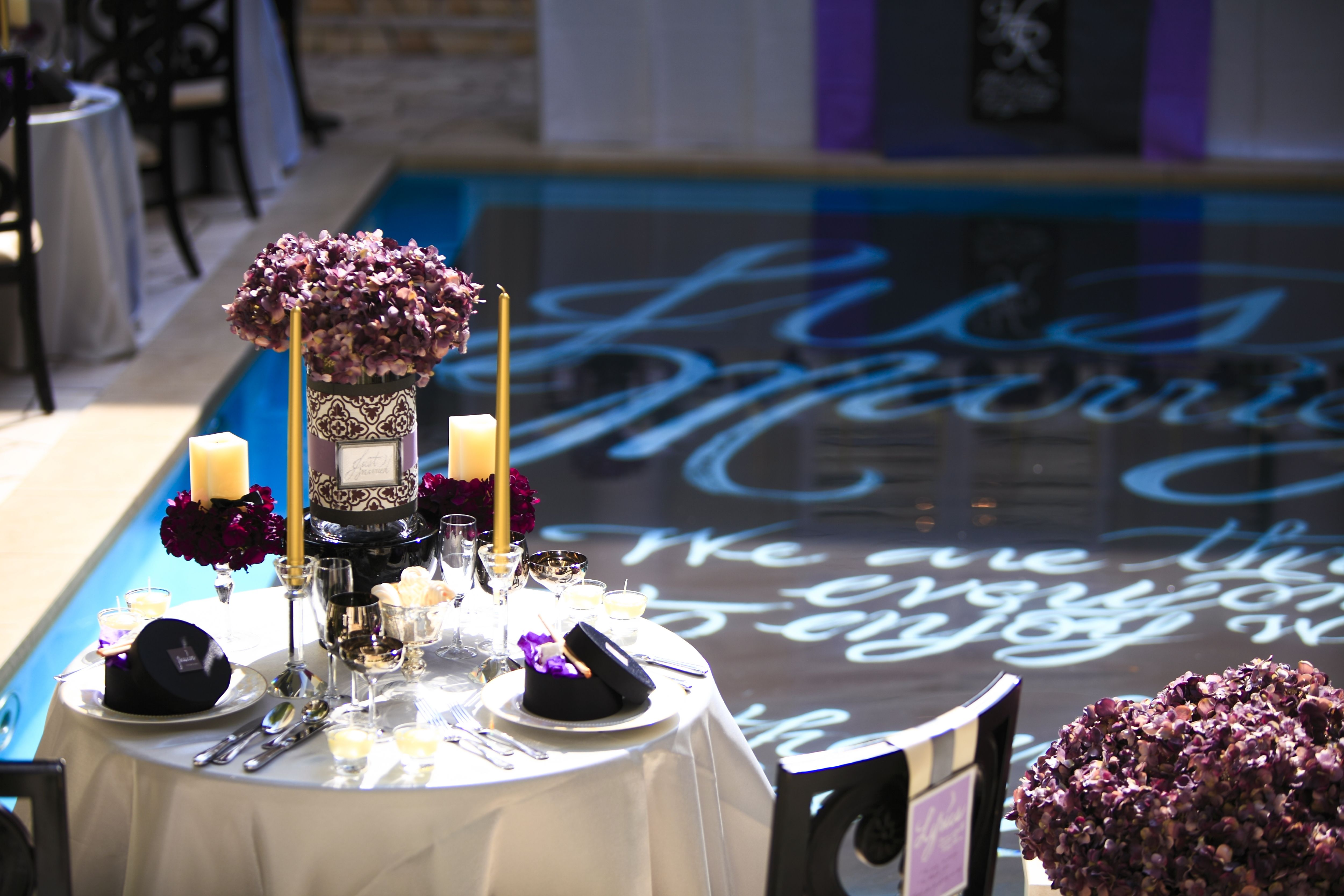 Purple and blue wedding decor  wedding coordinate purple WEDDING TRUNK OneHeart purple  Color