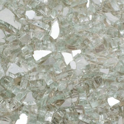 "AmazonSmile : Dragon Glass 5 lb. Sky Blue Reflective Fire Glass 1/4"" : Patio, Lawn & Garden"