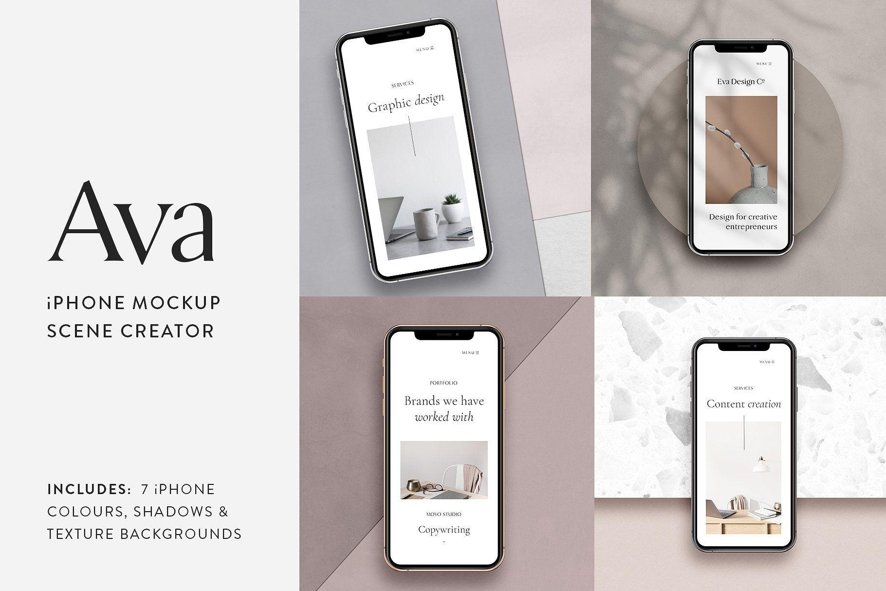 Download Ava Iphone Mockup Scene Creator Iphone Mockup Scene Creator Iphone Colors