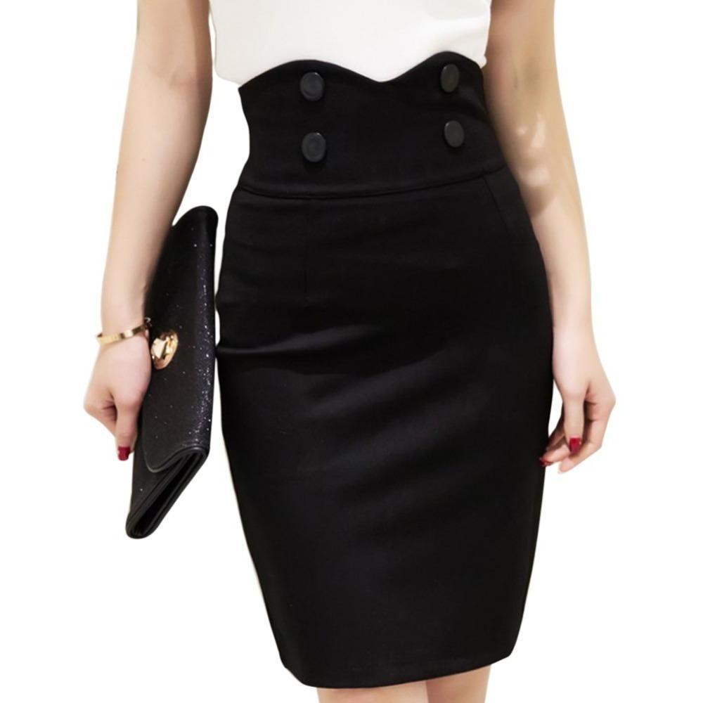 09510813028 An office-ready pencil skirt with a high waist