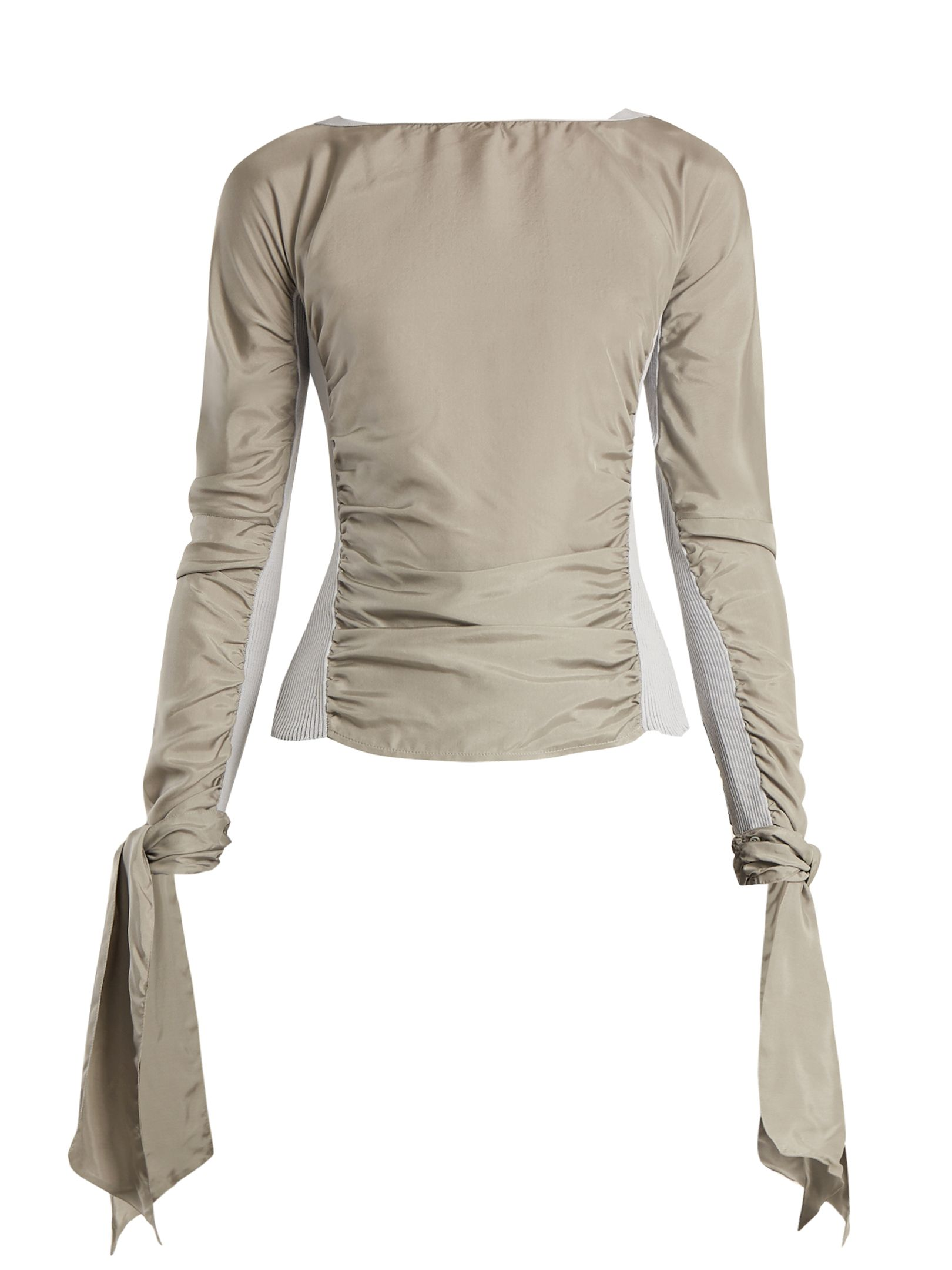 Contrast-panel ruched silk-blend top Christophe Lemaire Clearance Pay With Visa Sale Best Buy Cheap Cheapest N1rvno8Gd
