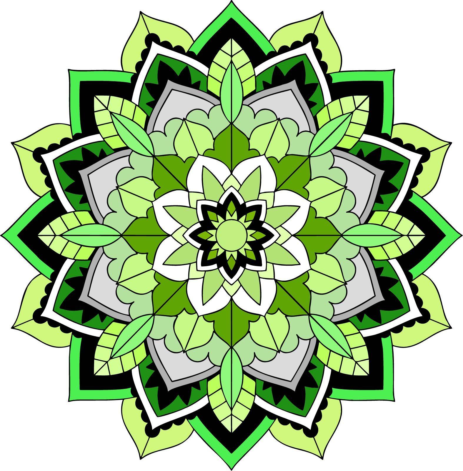 Dibujo De Mandala Verde Mandala Drawing Mandala Mandala Design