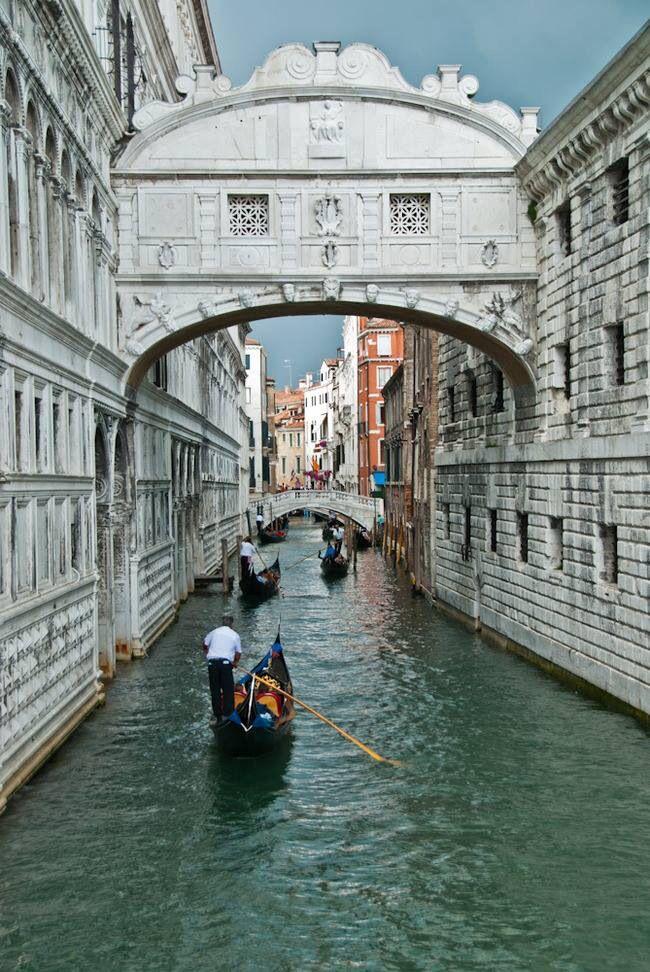 Bridge Of Sighs Venice Venecia Italia Puente De Los Suspiros Italia