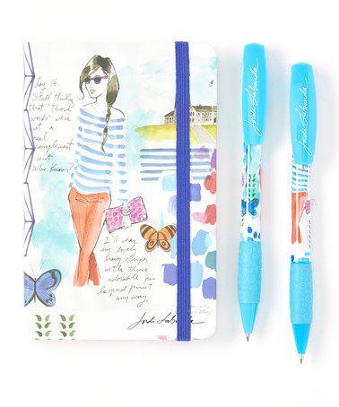 This Ocean Breeze Journal Gift Set is perfect! #zulilyfinds