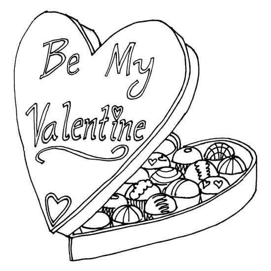 Brenda Gets Chocolates For Valentine\'s Day   Coloring   Pinterest ...