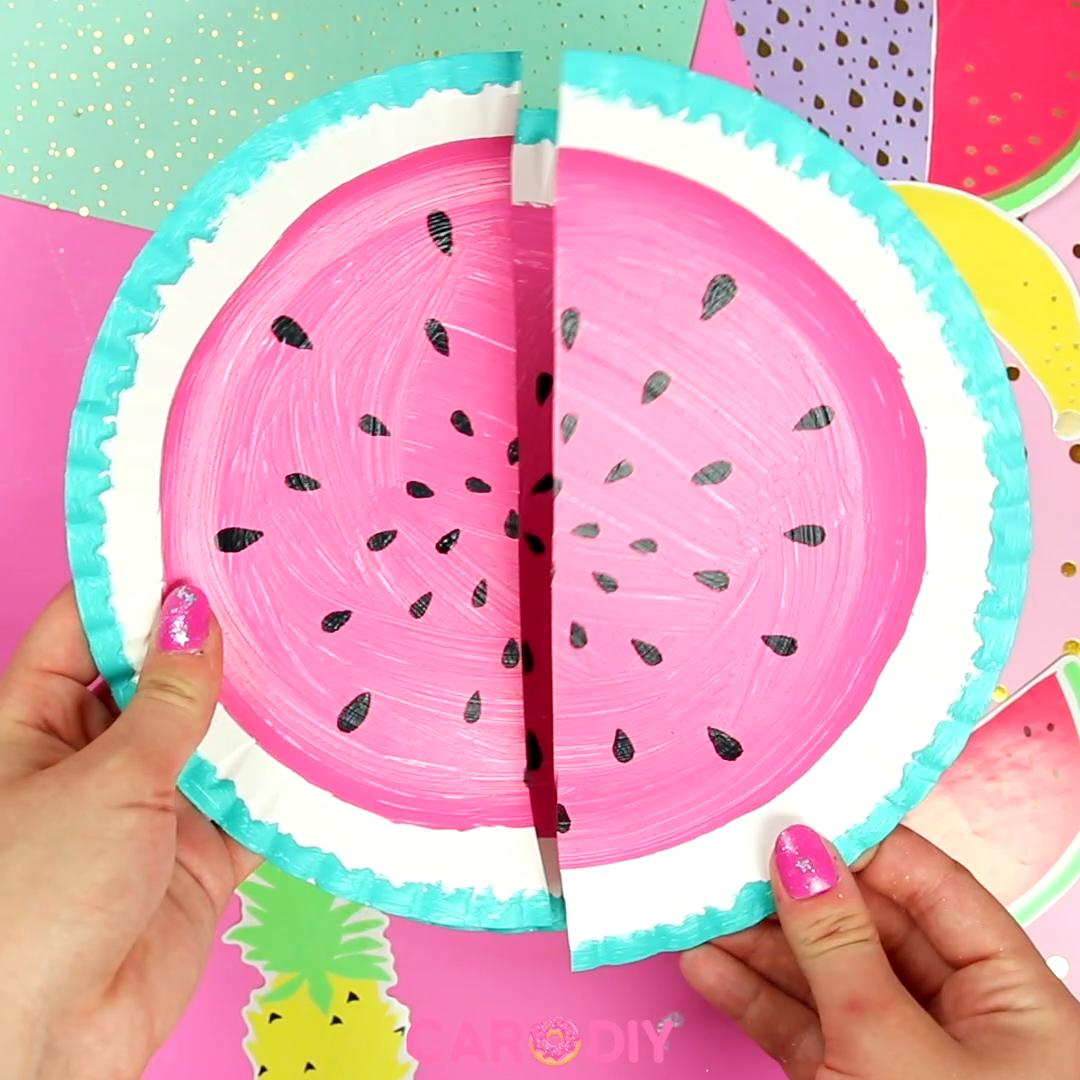 Photo of Sommerliche DIY Wassermelonen Girlande