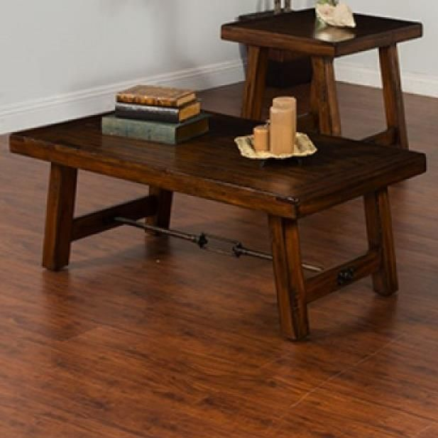 Sunny Designs Tuscany Distressed Mahogany Coffee Table With
