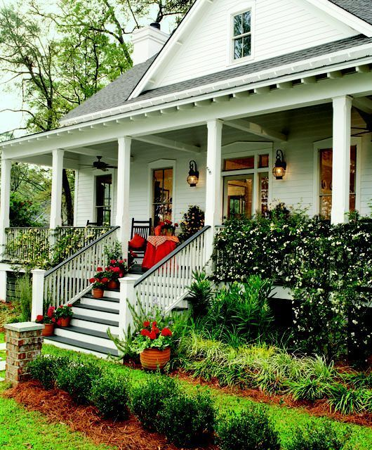 Pretty House Plans with Porches Casas, Entrada y Casas americanas