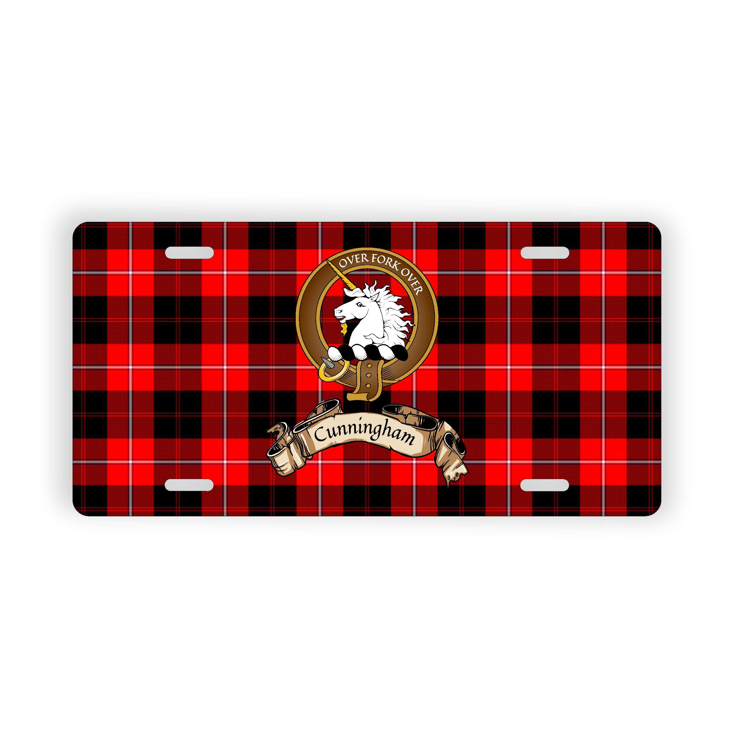 Montgomery Scottish Clan Tartan Novelty Auto Plate Tag Family Name Plate
