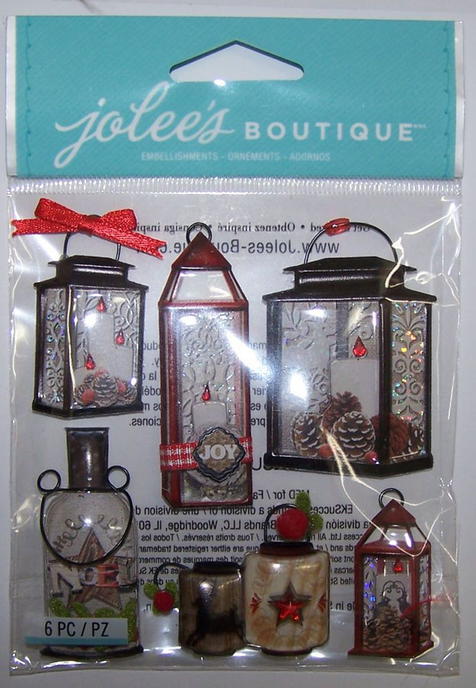 Jolee/'s HAPPY HOLIDAYS Boutique Stickers WITH HOLLY NEW