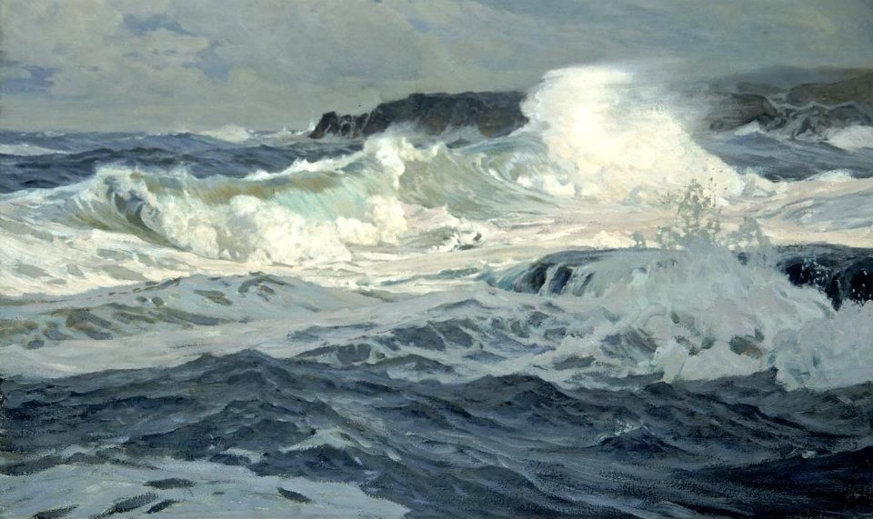 Frederick Judd Waugh (1861-1940). Southwesterly Gale, 1907, at the Smithsonian American Art Museum
