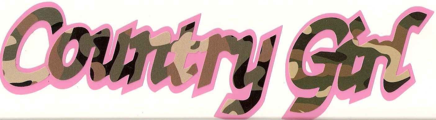 Country Girl Pink Camo Deere Redneck Custom Vinyl Decal Sticker - Camo custom vinyl decals for trucks