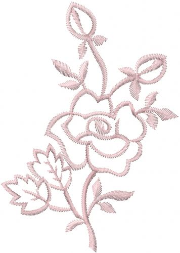 Free Pink Rose Outline Embroidery Design Annthegran Free