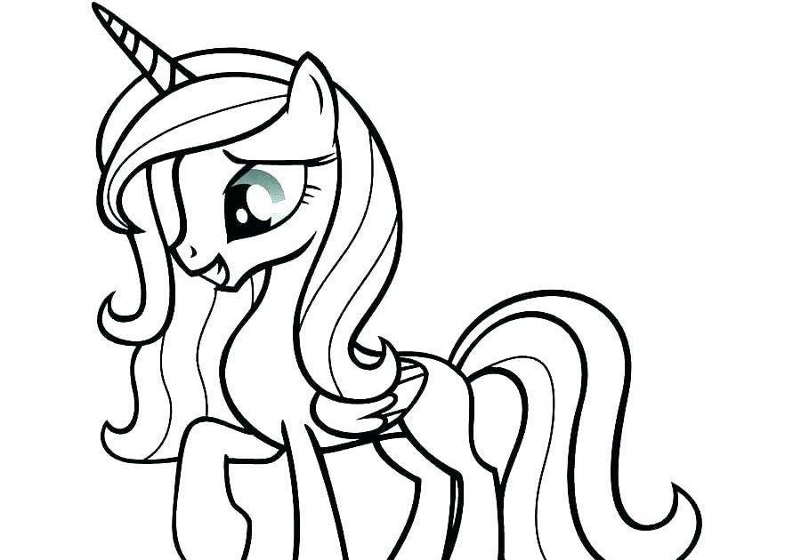 Cara Belajar Menggambar Dan Mewarnai Kuda Poni Drawing And