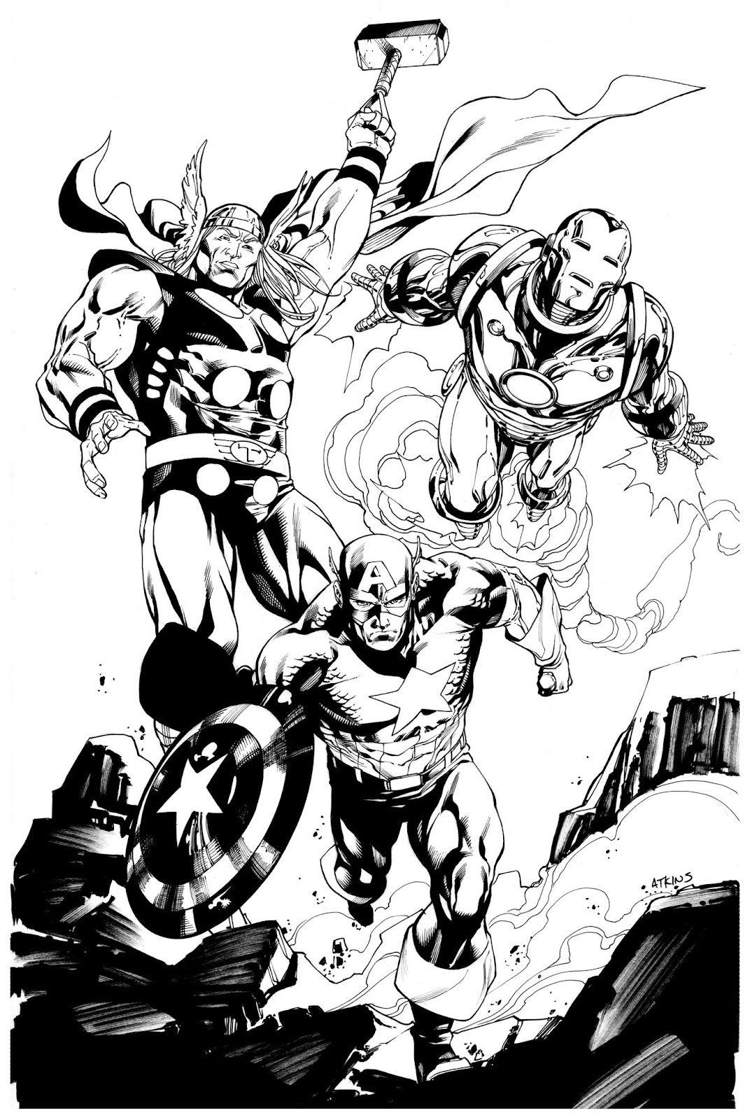 Thor, Iron Man & Captain America by Robert Atkins