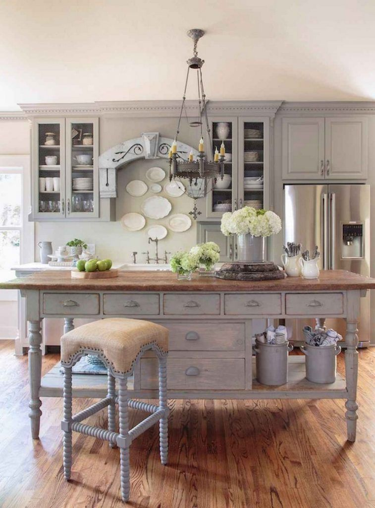52 Modern French Country Style Kitchen Decor Ideas In 2020 Country Kitchen Decor Country Kitchen French Country Dining Room