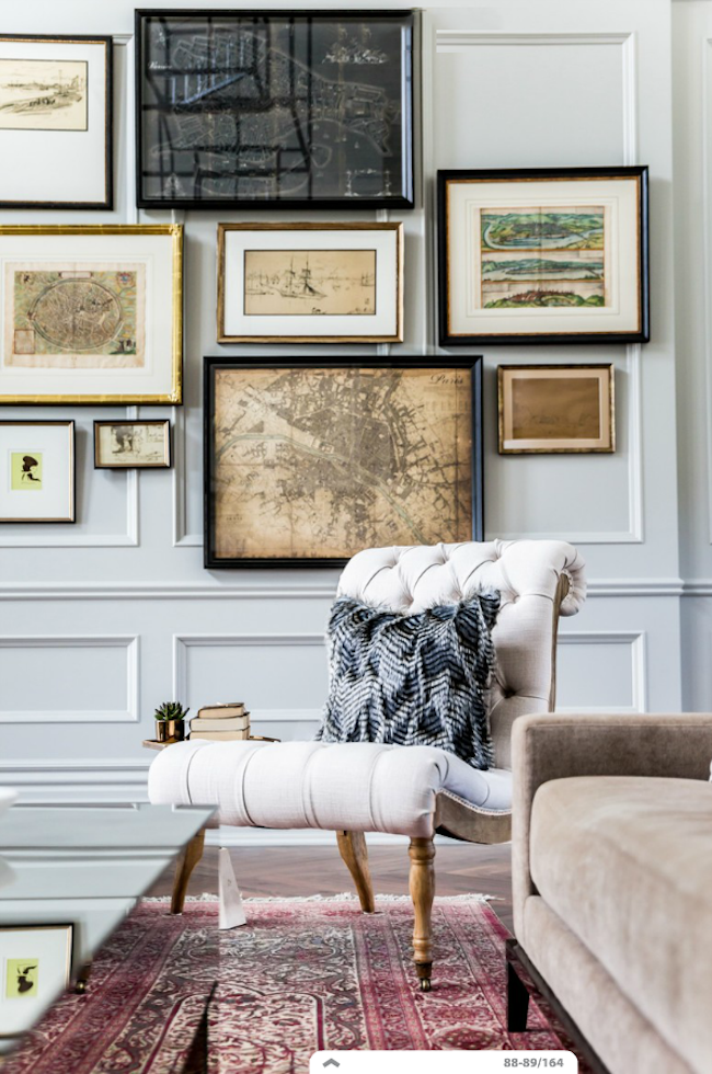 Classy Room With A Charming Gallery Wall