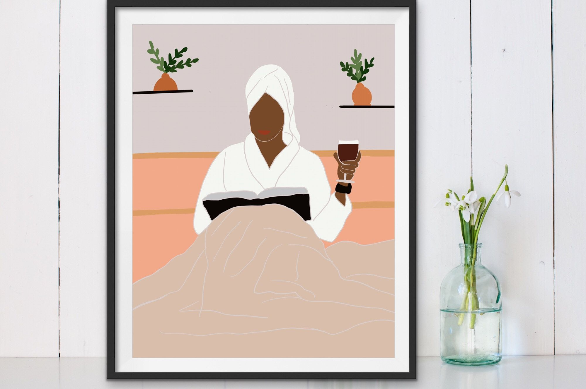 African American Art Black Woman In Bath Wall Art African Etsy African American Art American Art Bath Wall Art