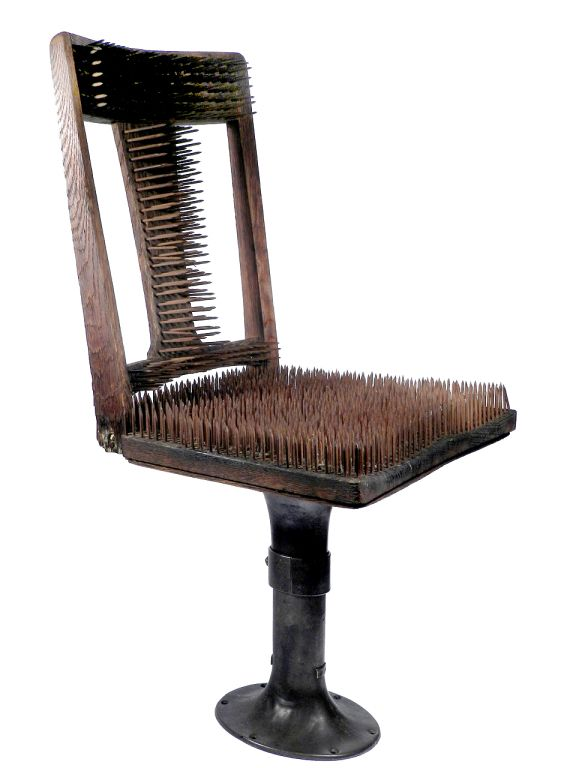 uncomfortable chair design chair of nails the worlds most uncomfortable wtf