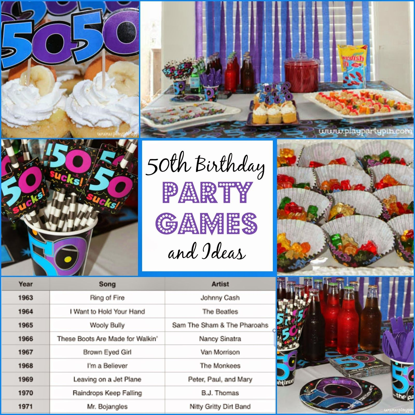 The Best 50th Birthday Party Ideas Games, Decorations