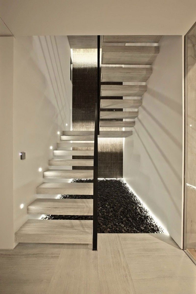 S house interior by tanju zelgin modern stairs design for Modern house stairs