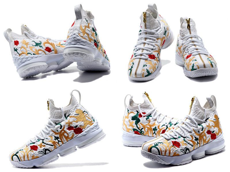 c765e10f622e Authentique Kith X Nike Lebron 15 Floral White