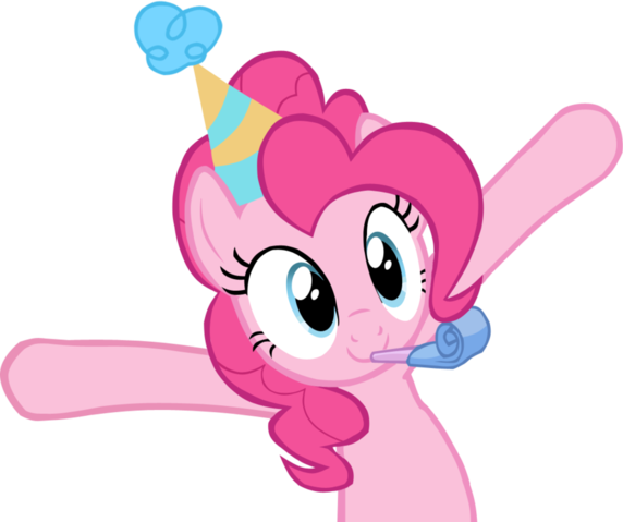 Fanmade Pinkie Pie Celebrating With Arms Up Png Little Pony My Little Pony My Little Pony Birthday