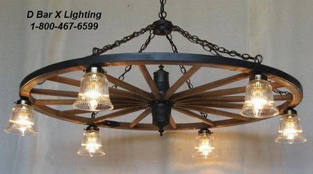 Ww022 wagon wheel chandeliers with downlights light fixtures deck lighting mozeypictures Gallery