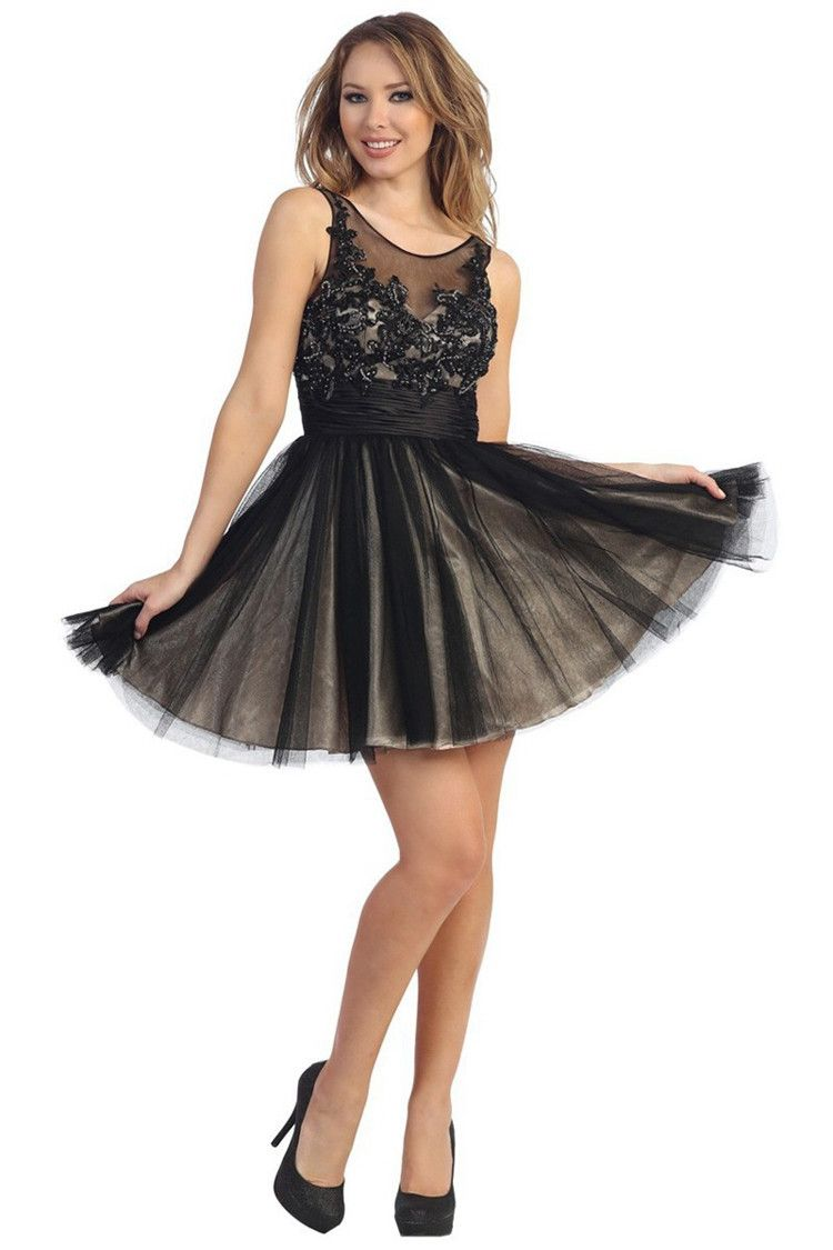 Tulle Cute Homecoming Dresses Scoop Backless Vestido De Formatura