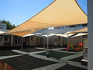Shade&Beyond 8'x10' Heavy Duty Rectangle Shade Sail UV Top Outdoor Canopy for Patio Bamboo Color - 5th Generation
