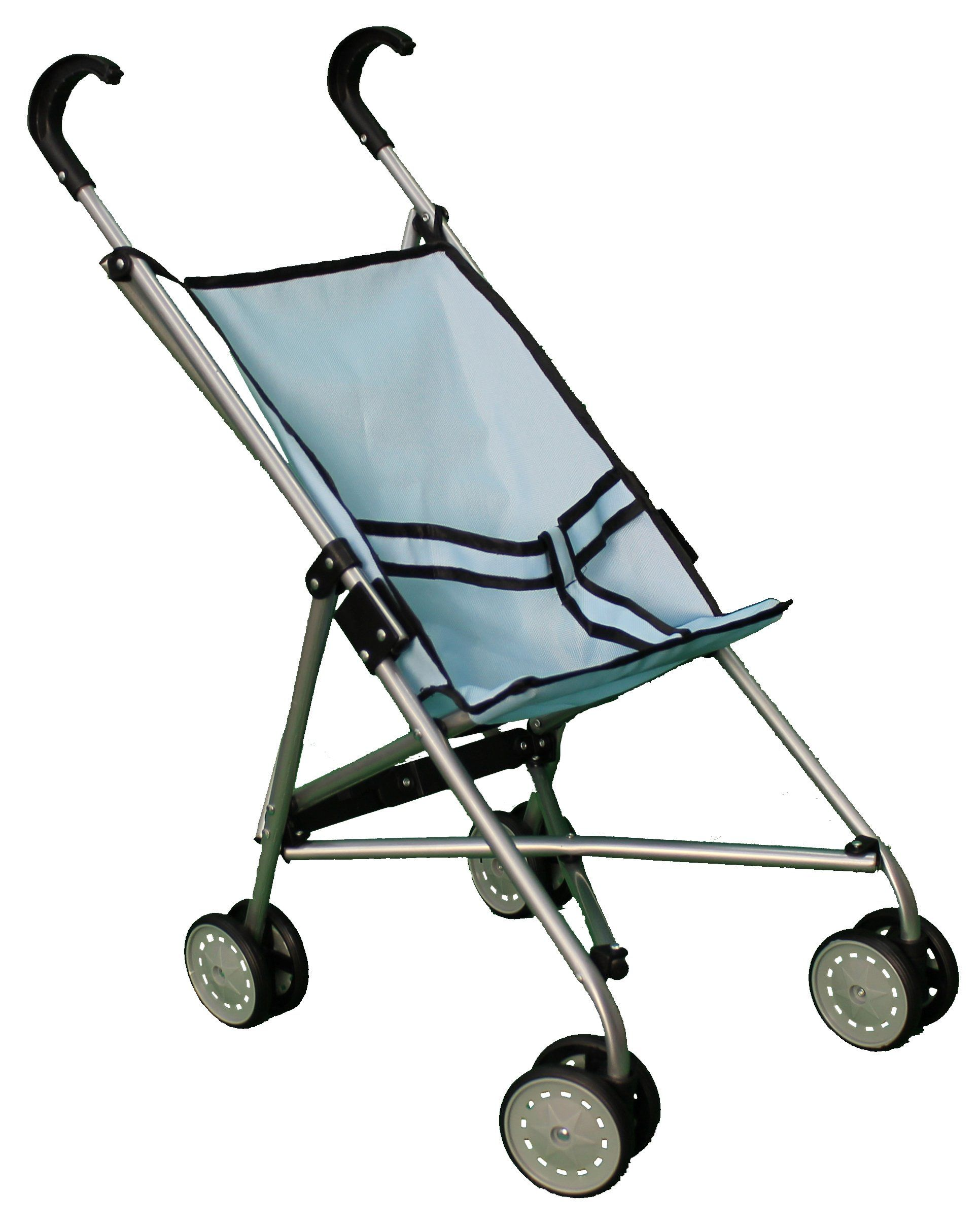 Blue Umbrella Doll Stroller with Swiveling