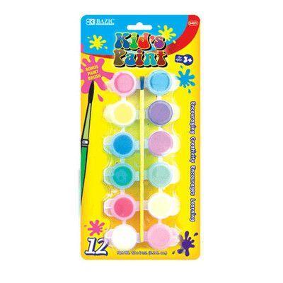 Bazic 12 Color Kid's Paint Set Quantity: Case of 24