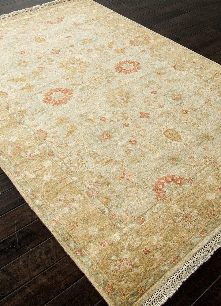 Gold Hand Knotted Luxury Wool Rug