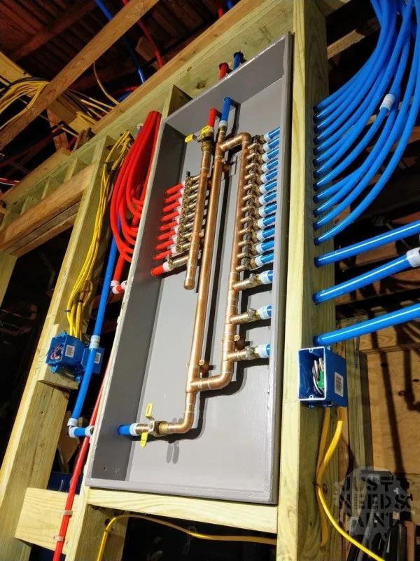 How To Design A Pex Water Manifold Just Needs Paint Pex Plumbing Plumbing Installation Plumbing