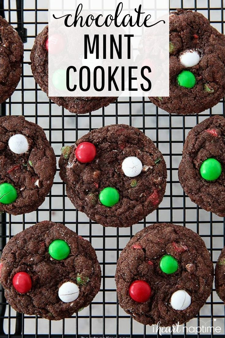 Soft and fudgy chocolate mint cookies made with cake mix So easy to whip up and have the perfect to Soft and fudgy chocolate mint cookies made with cake mix So easy to wh...