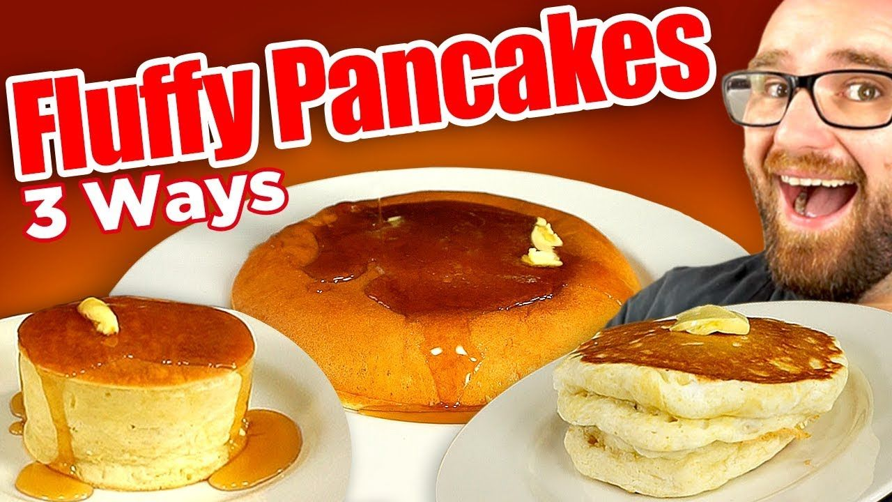 I Tried To Make All 3 Fluffy Japanese Pancakes Versions Japanese Pancake Pancakes Souffle Pancake Recipe