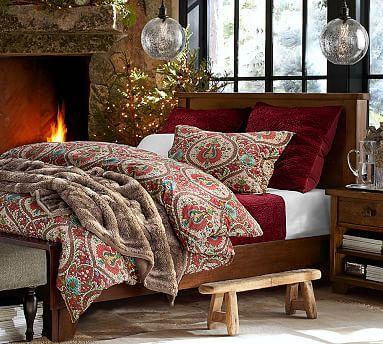 Sumatra Bed, Queen, Mahogany stain
