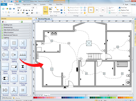 How To Make A Clear And Organized Home Wiring Plan Try This Easy And Speedy Way To Make Your Own Home Wi House Wiring Electrical Wiring Home Electrical Wiring
