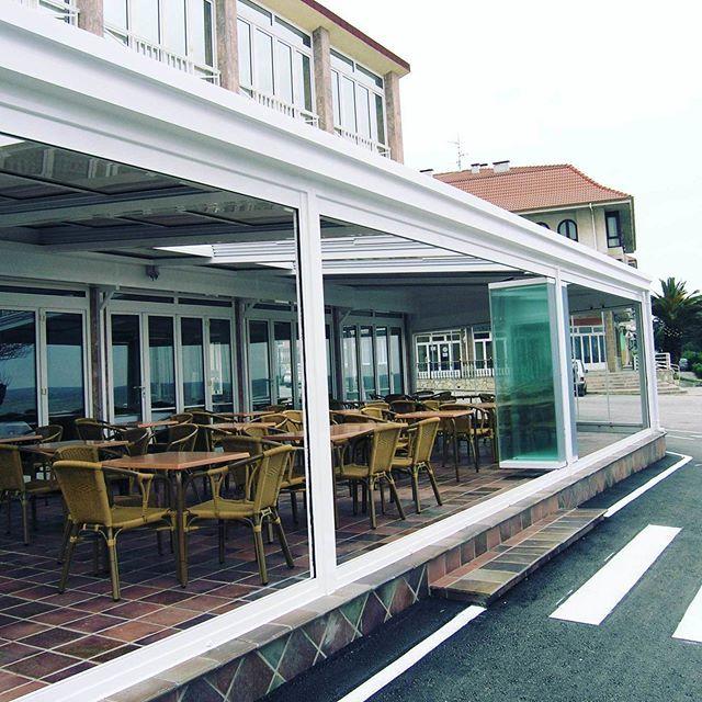 Cortinas de Cristal y Techo Móvil Motorizado de LAVERANDA10 para - cortinas para terrazas